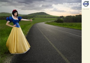 Snow White hitch hiking